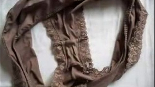 Cum on Marya&acute_s dirty panties