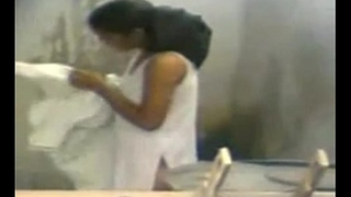19 Year Old Indian Girl Watched Washing
