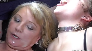 Teen girl Laura and Milf Rosella in the fuck and cum hell! Part 7