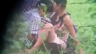 Indian teen having sex outdoor